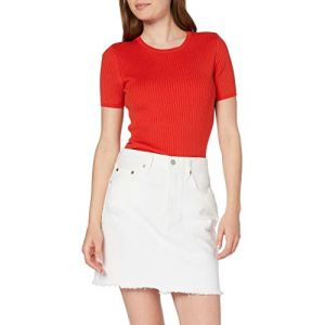 Levi's HR Decon Iconic BF Skirt Jupe, Blanc (Pearly White 0010), Unique (Taille Fabricant: 25) Femme