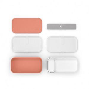 monbento MB Original Orange Tropical bento Box Made in France - Lunch Box hermétique 2 étages - Boîte Repas idéale pour Le Travail/école - sans BPA - Durable et sûre