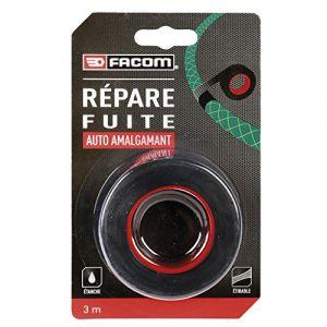 Facom Adhésif répare fuite auto amalgamant 3m x 25mm - Convient pour les petites fuites - Dimension : 3m x 25mm - Produit étirable.
