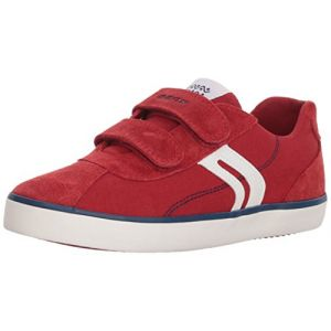 Geox J Kilwi I, Baskets Basses Garçon, Rouge (DK Red/Navy), 37 EU