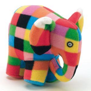 Petit Jour Hochet peluche Elmer l'Eléphant