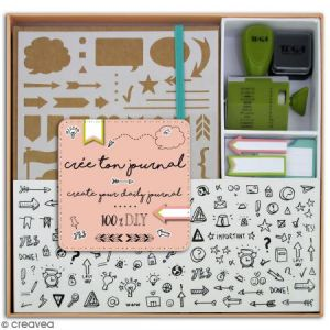 Toga KT74 Kit Bullet Journal Carnet Kraft 15,5 x 21,5 x 1,5 cm
