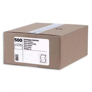 Gpv Boîte de 500 enveloppes auto-adhésives 80g DL 110x220mm fenêtre 35x100