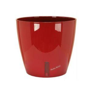 Riviera Pot plastique à réserve d'eau Diam.35 x H.33 cm rouge