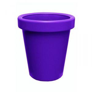 Lisséa 40 - Pot de fleurs rond en plastique soufflé Ø40 cm