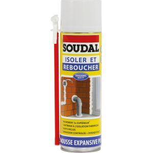 Soudal Bombe mousse polyuréthane 300 mlMono-composante Usage Tete en bas
