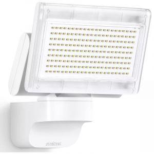 Steinel 029685 XLED home 1 SL4000K- Nouveau Projecteur LED sans détection, Spot LED d'une puissance de 14,8 Watt et luminosité de 1020 lm, Éclairage extérieur avec 4000K couleur de la lumière, IP44Blanc
