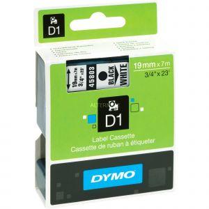 Dymo S0720830 - Ruban étiqueteuse D1 fond blanc écriture noire 19 mm x 7 m