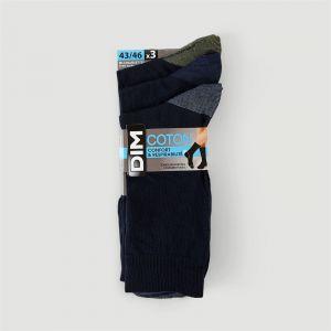 DIM Lot de 3 paires de chaussettes - noir