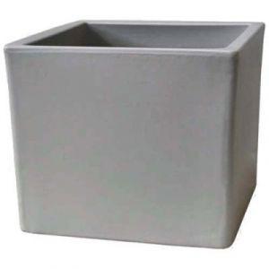 Chapelu Cublm35Cgb Cubico Bac À Fleurs Polyéthylène Gris Ciment 35 X 35 X 35 Cm