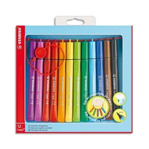 Stabilo Pen 68 Coffret de 12 Feutre + 1 lacet
