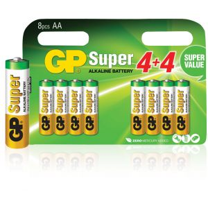 GP Super 8 piles alcalines AA/LR6 1,5V