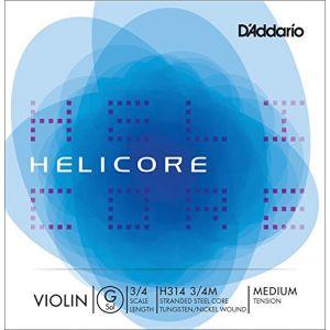 D'Addario Helicore Violon 3/4 Corde De Sol Medium/file Argent