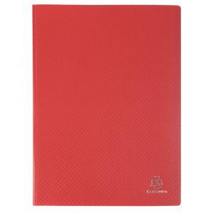 Exacompta 8885E - Protège-documents A4 160 vues OPAK, polypro coloris rouge