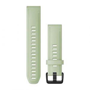 Garmin Bracelet de montre Quick Fit 20mm - Silicone Menthe verte boucle Noir