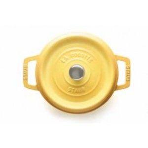 Staub Cocotte ronde 20,0 cm, 2,24 l, moutarde, adaptée à l'induction