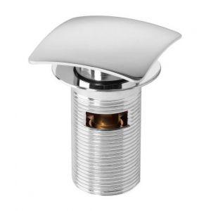 Wirquin Bonde de lavabo Quick-Clac - 75 mm - Carré - Avec trop-plein