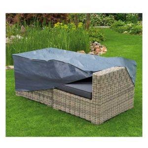 Nature Housse de protection canapé 2 places 90x170xH60 cm gris/noir GRAPHITE