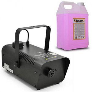 Beamz S9000 - Machine à brouillard 70m³/min, télécommande avec 5 litres de liquide