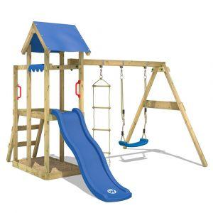 Wickey Aire de jeux TinyPlace avec toboggan blue, balançoire et bac à sable