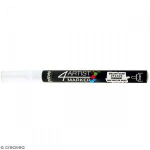 Pebeo Marqueur à huile 4Artist Marker - Blanc - Pointe ronde - 2 mm