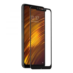 Muvit Tempered Glass Screen Protector Xiaomi Pocophone F1 One Size Clear / Black - Clear / Black - Taille One Size