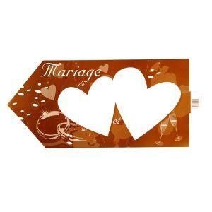 Pancarte de direction Mariage