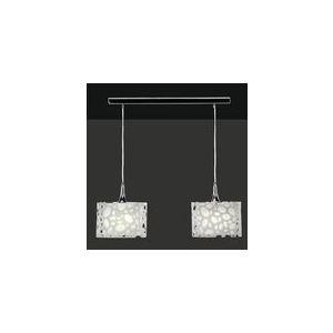 Mantra Suspension Lupin 2 ampoules en chrome et acrylique 15 W