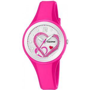 Calypso Montre femme cadran Rose bracelet Silicone Rose-K5751/3