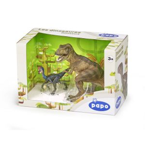 Papo Coffret Figurines T-Rex et Oviraptor