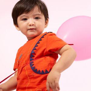 Catimini T-shirt à motif dinosaure 3D Orange - Garçon