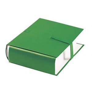 Elba 100725685 - Lot de 10 chemises à dos extensible 1 rabat, à sangle et fermeture velcro, coloris vert
