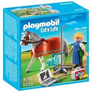 Playmobil 5533 City Life - Vétérinaire avec cheval et appareil de radiologie