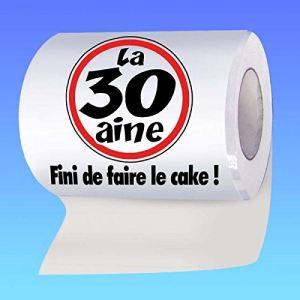 """Papier WC humoristique """"La 30aine - Fini de faire le cake !"""""""