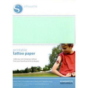Silhouette Papier tatouage temporaire imprimable pour Caméo Portrait Craft-Robo