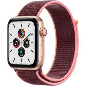 Apple Accessoire Watch SE 44MM Alu Or/Boucle Prune Cellular