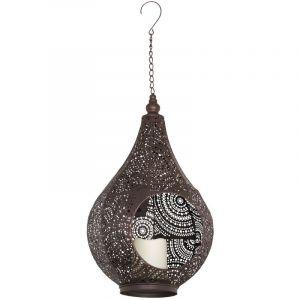 Eglo Lanterne d'extérieur solaire LED suspendue lampe suspendue décor marron die cut lampe de jardin 48656