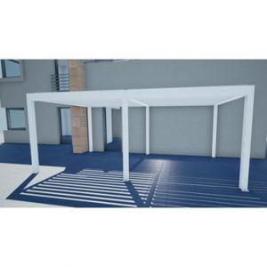 Pergola autoportante Orient 18 m² en aluminium blanc