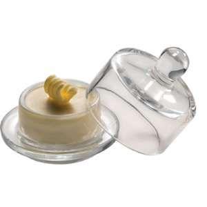 APS Gk864 Beurre Pad avec couvercle rond en verre
