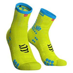 Compressport Compress Port Homme racing Sock High flou Yellow T3Compression Chaussettes de course, jaune fluo, 3