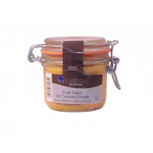 Halte Gourmande Foie Gras de Canard entier au St Emilion et épices douces 180g
