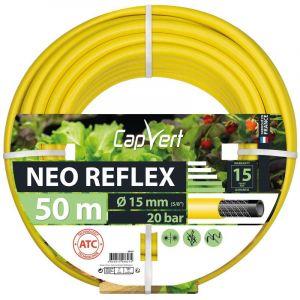 Cap Vert Tuyau d'arrosage Néo Reflex - Diamètre 15 mm - Longueur 50 m