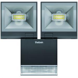 Theben Projecteur LED Double avec Detecteur theLeda 2x10W NOIR /