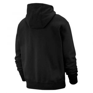 Nike M NSW Club Hoodie FZ BB Sweat-Shirt Homme, Black/(White), FR (Taille Fabricant : 2XL)