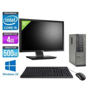 Dell Optiplex 7010 SFF + Ecran 22'' - Intel Core i5-3470 / 3.20 GHz - RAM 4 Go - HDD 500 Go - DVDRW - GigaBit Ethernet - Windows 10 Professionnel