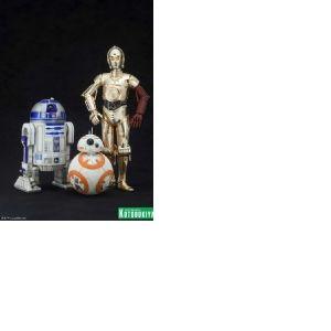 Kotobukiya Star Wars R2-D2 avec C-3PO et BB-8 Artfx