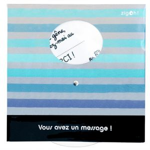 1 disque de stationnement zone bleue à message Bayo ZIGONIRIC