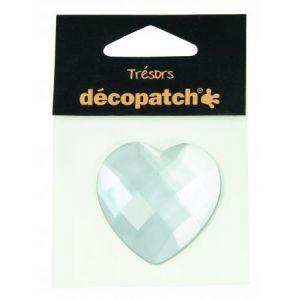 decopatch Cabochon cœur blanc 4,5 cm