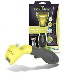 FURminator Outil de Toilettage - Elimine 90% des poils Morts - Nettoyage en 1 clic - Pour chiens de très petite taille