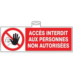 Taliaplast 621210 - Panneau PS Choc Accès interdit non autorisé 330x200